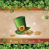 Cartão do dia de St Patrick Imagem de Stock Royalty Free
