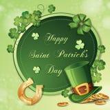 Cartão do dia de St Patrick Imagens de Stock