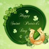 Cartão do dia de St Patrick Imagens de Stock Royalty Free