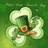 Cartão do dia de St Patrick Imagem de Stock