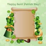 Cartão do dia de St Patrick ilustração do vetor