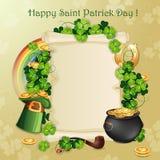 Cartão do dia de St Patrick ilustração royalty free