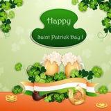 Cartão do dia de St Patrick ilustração stock