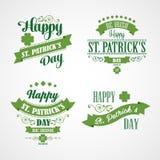 Cartão do dia de St Patrick feliz Tipográfico com Fotografia de Stock