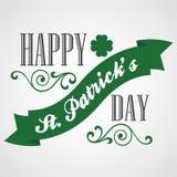 Cartão do dia de St Patrick feliz Tipográfico com Imagens de Stock Royalty Free