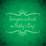 Cartão do dia de St Patrick no formato do vetor ilustração stock