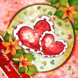 Cartão do dia de Valentim Fotos de Stock