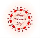 Cartão do dia de Valentim Fotografia de Stock Royalty Free