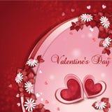 Cartão do dia de Valentim Foto de Stock Royalty Free