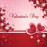 Cartão do dia de Valentim Fotografia de Stock