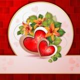 Cartão do dia de Valentim Imagem de Stock