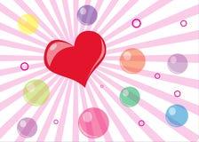 Cartão do dia de Valentim Foto de Stock