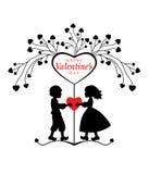 Cartão do dia de Valentim. Imagens de Stock Royalty Free