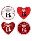 Cartão do dia de Valentim. Fotos de Stock Royalty Free