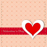Cartão do dia de Valentim, cartão de presente ou fundo feliz. EPS Imagens de Stock Royalty Free