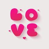 Cartão do dia de Valentim com coração Imagens de Stock Royalty Free