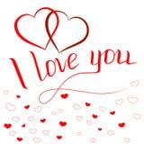 Cartão do dia de Valentim com cumprimento inscription2 ilustração royalty free
