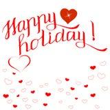 Cartão do dia de Valentim com cumprimento inscription3 ilustração royalty free