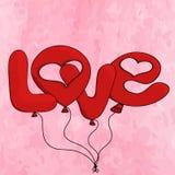 Cartão do dia de Valentim de Saint Imagens de Stock Royalty Free
