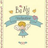 Cartão do dia de Valentim do St Fotografia de Stock Royalty Free