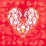 Cartão do dia de Valentim do vintage Fotos de Stock