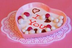 Cartão do dia de Valentim ou do dia de mães - fotos conservadas em estoque Fotos de Stock