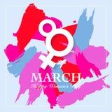 Cartão do dia de Women's Imagem de Stock Royalty Free