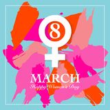 Cartão do dia de Women's Imagens de Stock
