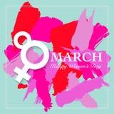 Cartão do dia de Women's Fotos de Stock Royalty Free