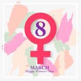Cartão do dia de Women's Imagens de Stock Royalty Free