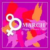 Cartão do dia de Women's Fotografia de Stock