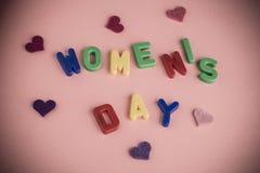 Cartão do dia do ` s das mulheres Fotos de Stock