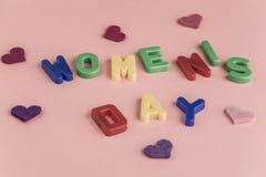 Cartão do dia do ` s das mulheres Foto de Stock Royalty Free