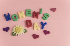 Cartão do dia do ` s das mulheres Imagem de Stock Royalty Free