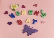 Cartão do dia do ` s das mulheres Fotos de Stock Royalty Free