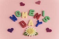 Cartão do dia do ` s das mulheres Fotografia de Stock Royalty Free