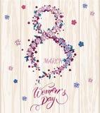 Cartão do dia do ` s das mulheres Fotografia de Stock