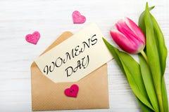 Cartão do dia do ` s das mulheres Imagens de Stock