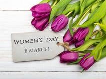 Cartão do dia do ` s das mulheres Imagens de Stock Royalty Free
