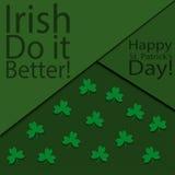 Cartão do dia do ` s de St Patrick do vetor ilustração stock