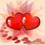 Cartão do dia do `s de Valentin Fotos de Stock