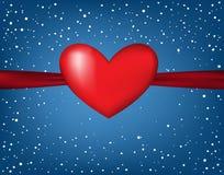 Cartão do dia do ` s de Valentin, Fotos de Stock