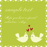Cartão do dia do `s de Valentin Fotografia de Stock