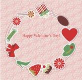 Cartão do dia do `s do Valentim Imagem de Stock