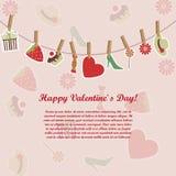 Cartão do dia do `s do Valentim Imagens de Stock Royalty Free
