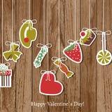 Cartão do dia do `s do Valentim Fotos de Stock