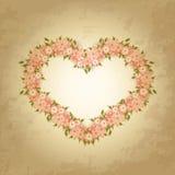 Cartão do dia do ` s do Valentim com flores. ilustração stock