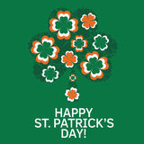 Cartão do dia do St patrick Fotografia de Stock