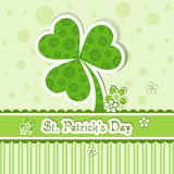 Cartão do dia do St. Patrick do molde Fotografia de Stock