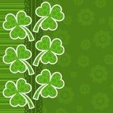 Cartão do dia do St. Patrick do molde Foto de Stock